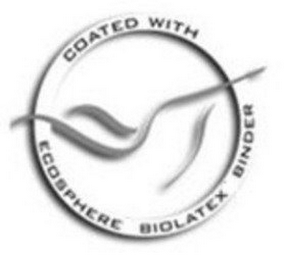 mark for COATED WITH ECOSPHERE BIOLATEX BINDER, trademark #85435701