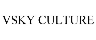 mark for VSKY CULTURE, trademark #85435736