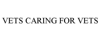 mark for VETS CARING FOR VETS, trademark #85437964