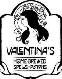 mark for VALENTINA'S HOME-BREWED SPELLS+POTIONS, trademark #85438014