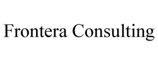 mark for FRONTERA CONSULTING, trademark #85438451