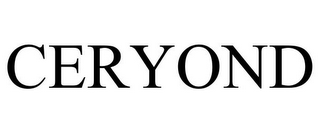 mark for CERYOND, trademark #85441117