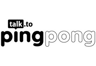 mark for TALK.TO PING PONG, trademark #85441554