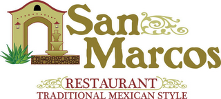 mark for SAN MARCOS RESTAURANT TRADITIONAL MEXICAN STYLE, trademark #85441763