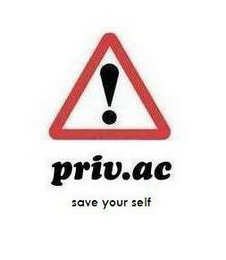 mark for PRIV.AC SAVE YOUR SELF, trademark #85441866