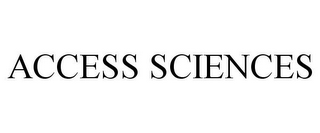 mark for ACCESS SCIENCES, trademark #85442487