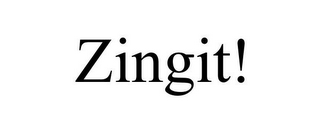 mark for ZINGIT!, trademark #85443706