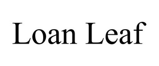 mark for LOAN LEAF, trademark #85443723