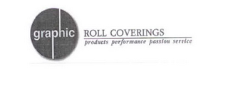 mark for GRAPHIC ROLL COVERINGS PRODUCTS PERFORMANCE PASSION SERVICE, trademark #85444513