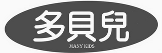 mark for MANY KIDS, trademark #85444938