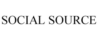 mark for SOCIAL SOURCE, trademark #85445390