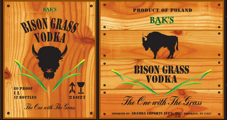 mark for PRODUCT OF POLAND BAK'S BISON GRASS VODKA THE ONE WITH THE GRASS IMPORTED BY: ADAMBA IMPORTS INT'L, INC. BROOKLYN, NY 11237, trademark #85446585