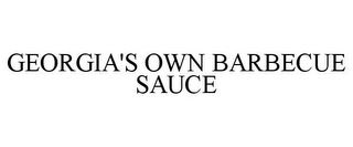 mark for GEORGIA'S OWN BARBECUE SAUCE, trademark #85447221