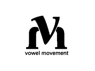 mark for VM VOWEL MOVEMENT, trademark #85448080