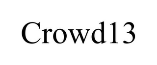 mark for CROWD13, trademark #85450083