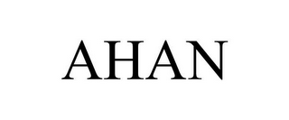 mark for AHAN, trademark #85451565