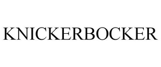 mark for KNICKERBOCKER, trademark #85452757