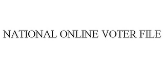 mark for NATIONAL ONLINE VOTER FILE, trademark #85454769