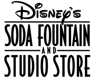 mark for DISNEY'S SODA FOUNTAIN AND STUDIO STORE, trademark #85456110