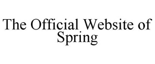 mark for THE OFFICIAL WEBSITE OF SPRING, trademark #85456220
