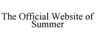 mark for THE OFFICIAL WEBSITE OF SUMMER, trademark #85456223