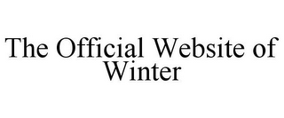 mark for THE OFFICIAL WEBSITE OF WINTER, trademark #85456232