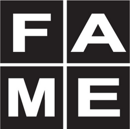 mark for F A M E, trademark #85458578