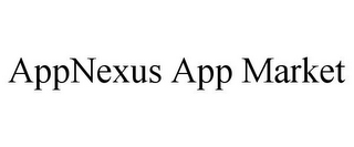 mark for APPNEXUS APP MARKET, trademark #85461180