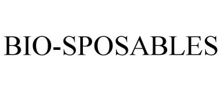 mark for BIO-SPOSABLES, trademark #85461381