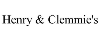 mark for HENRY & CLEMMIE'S, trademark #85461560