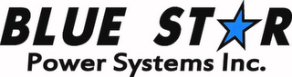 mark for BLUE STAR POWER SYSTEMS INC., trademark #85462512