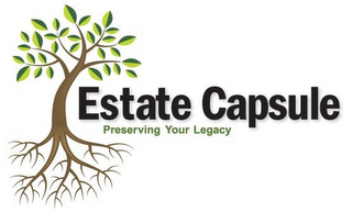 mark for ESTATE CAPSULE PRESERVING YOUR LEGACY, trademark #85463802