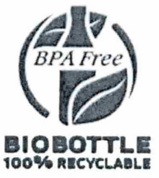 mark for BPA FREE BIOBOTTLE 100% RECYCLABLE, trademark #85464066