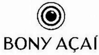 mark for BONY AÇAI, trademark #85465745