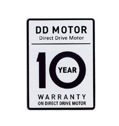 mark for DD MOTOR DIRECT DRIVE MOTOR 10 YEAR WARRANTY ON DIRECT DRIVE MOTOR, trademark #85466114