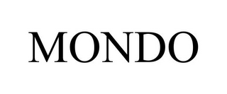 mark for MONDO, trademark #85468910
