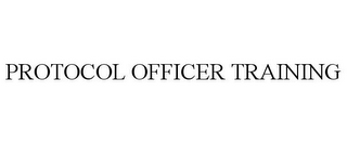 mark for PROTOCOL OFFICER TRAINING, trademark #85469124