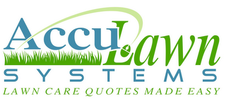 mark for ACCULAWN SYSTEMS LAWN CARE QUOTES MADE EASY, trademark #85471851