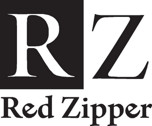 mark for RZ RED ZIPPER, trademark #85472438