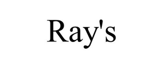 mark for RAY'S, trademark #85473794