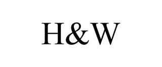 mark for H&W, trademark #85474334