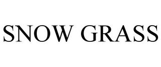 mark for SNOW GRASS, trademark #85475244