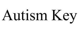 mark for AUTISM KEY, trademark #85475521