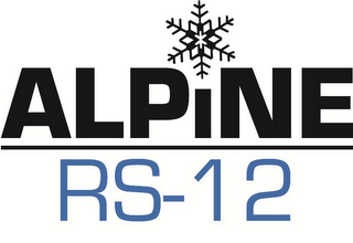 mark for ALPINE RS-12, trademark #85476069