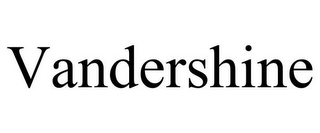 mark for VANDERSHINE, trademark #85478361