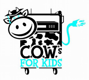 mark for C.O.W.'S FOR KIDS, trademark #85478769