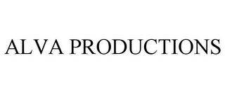 mark for ALVA PRODUCTIONS, trademark #85479117