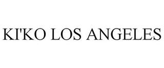 mark for KI'KO LOS ANGELES, trademark #85479475