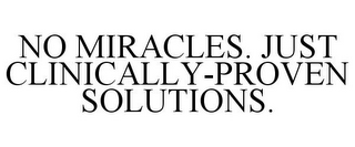 mark for NO MIRACLES. JUST CLINICALLY-PROVEN SOLUTIONS., trademark #85479917