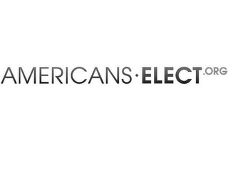 mark for AMERICANS ELECT.ORG, trademark #85480221